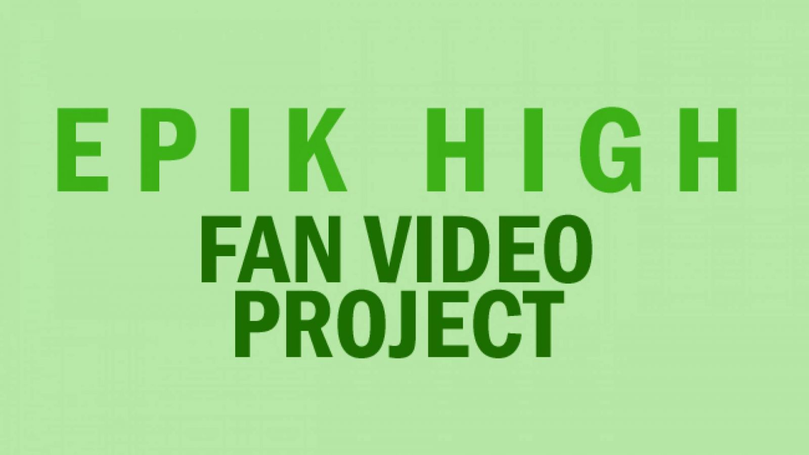 Epik High Video Project on valmis! © KoME