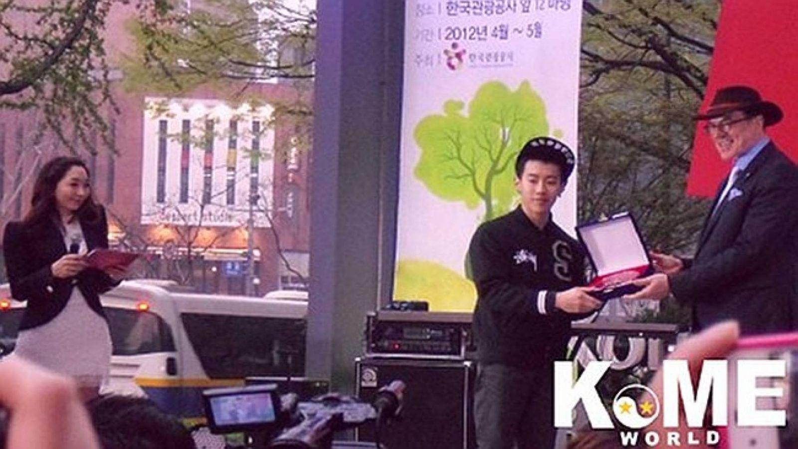 Jay Park como Embaixador da Competição R-16 B-Boy © KoME World