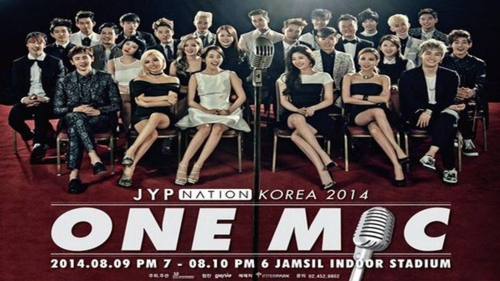 2014 JYP NATION - ONE MIC tour © JYP Entertainment