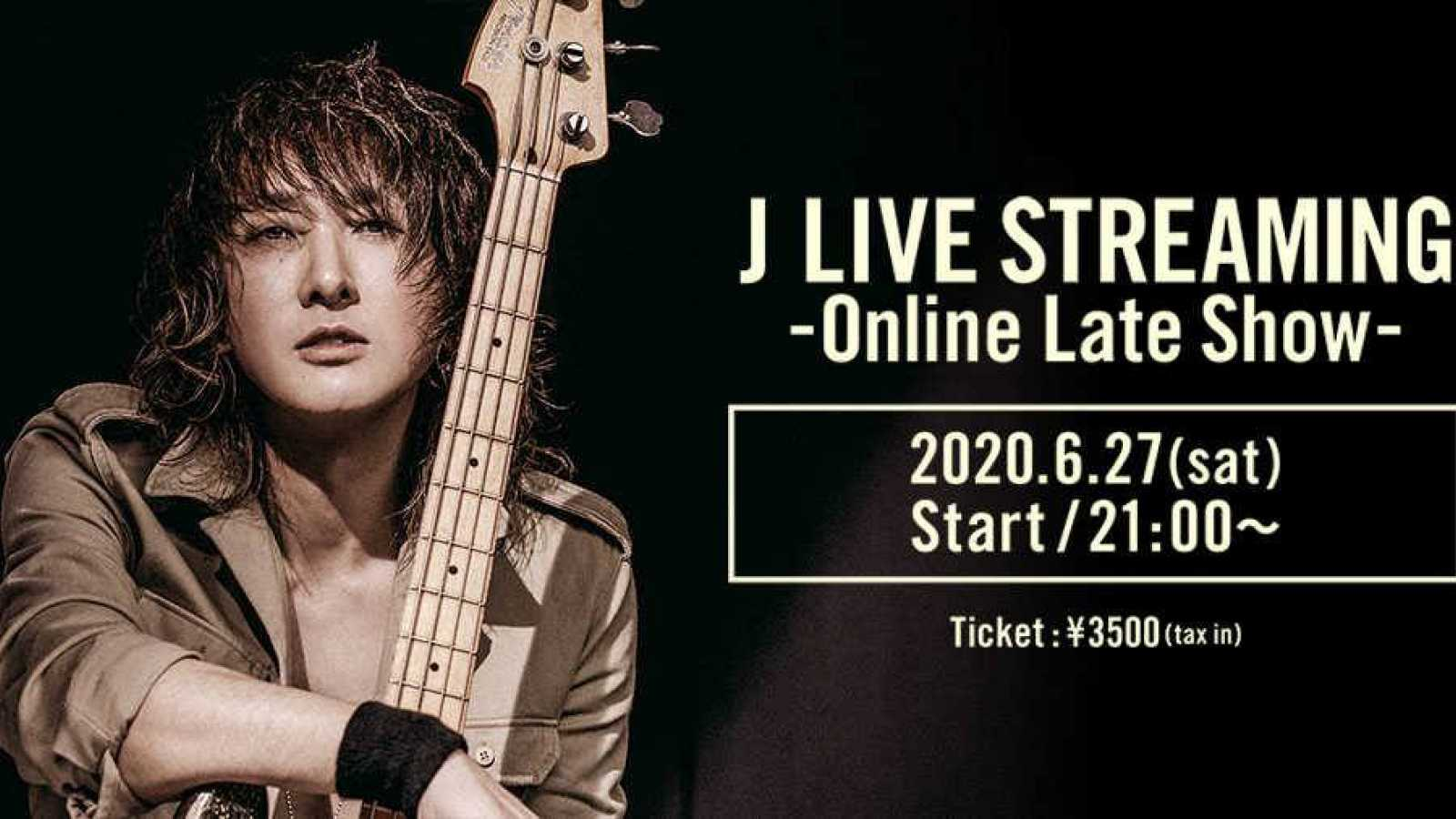 J to Stream Online Late Show on niconico LiVE © J. All rights reserved.